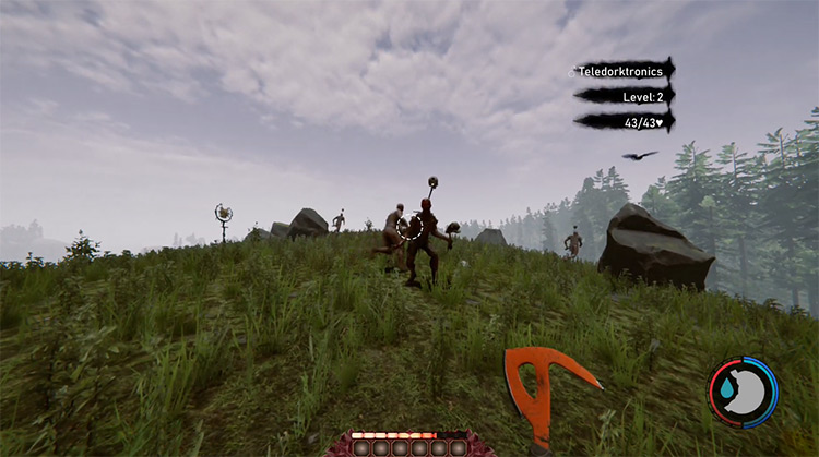 Champions of The Forest gameplay screenshot