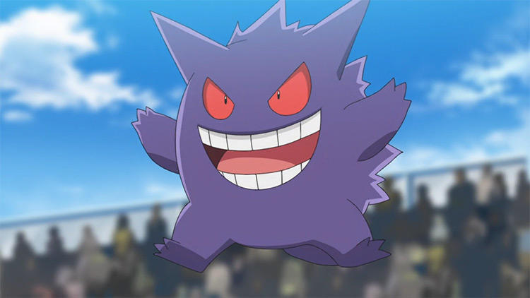 Gengar from Pokémon anime