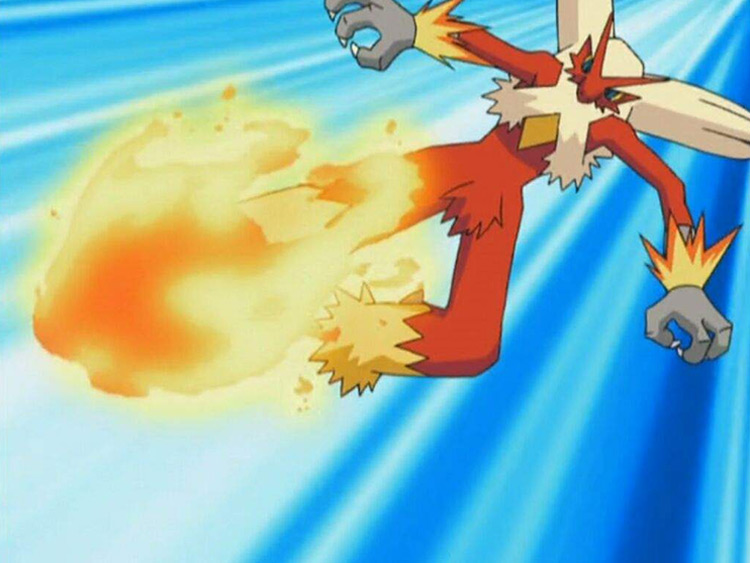 Blaziken in Pokémon anime