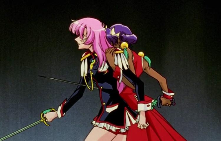 Anthy Pierces Utena in Revolutionary Girl Utena