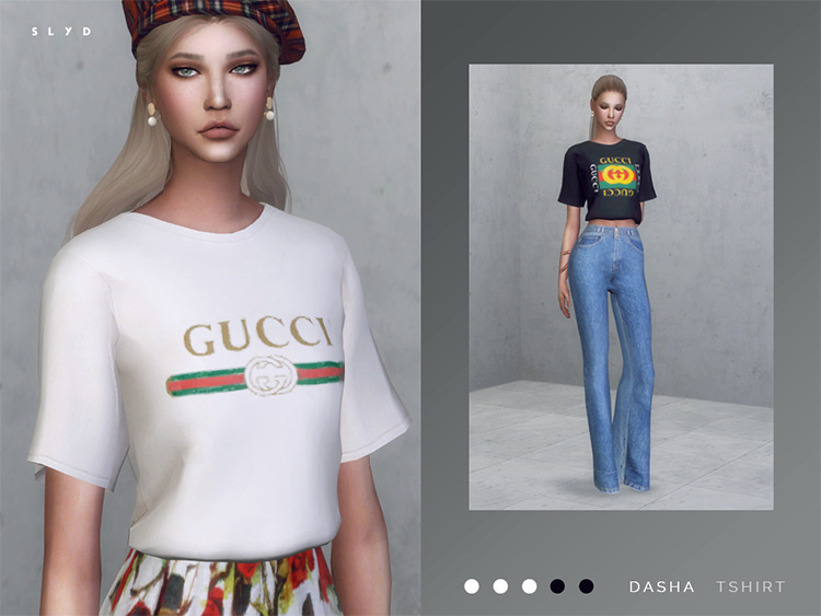Gucci T-Shirt for Sims 4