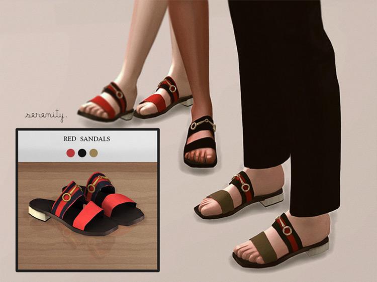 Gucci Sandals Sims 4 CC