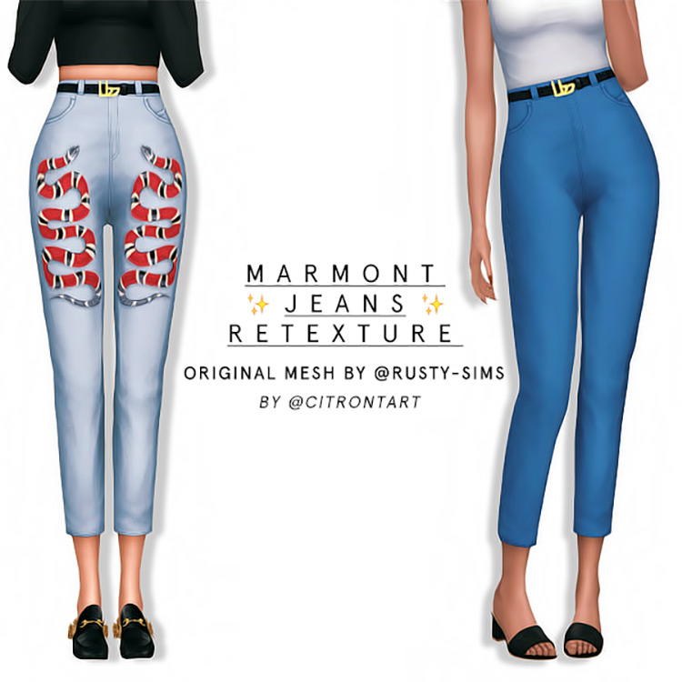 Marmont Jeans Retexture for Sims 4