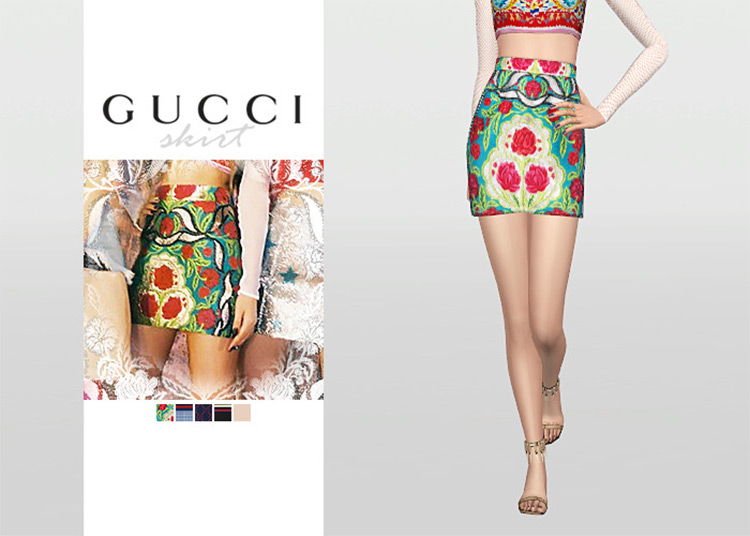 Gucci Skirt Sims 4 CC screenshot