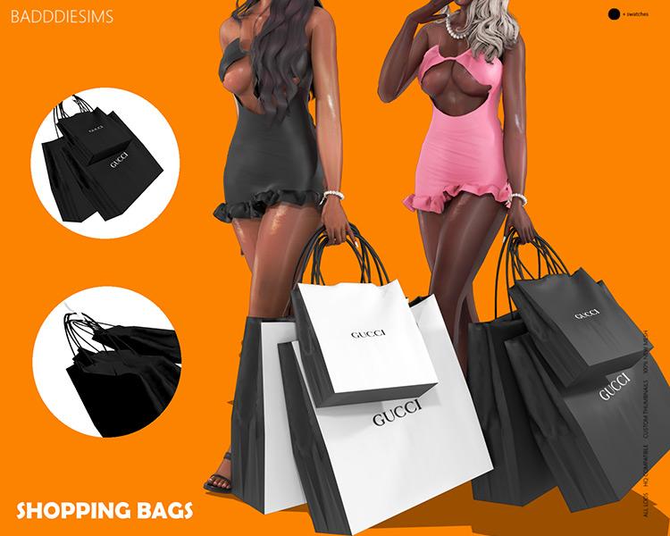 Gucci Shopping Bags Sims 4 CC