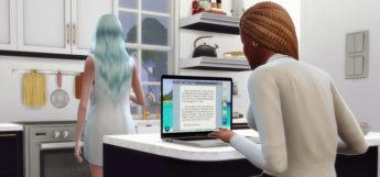 TS4 Custom MacBook Laptop CC - Sims 4 preview