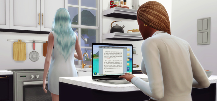 TS4 Custom MacBook Laptop CC - Sims 4 preview