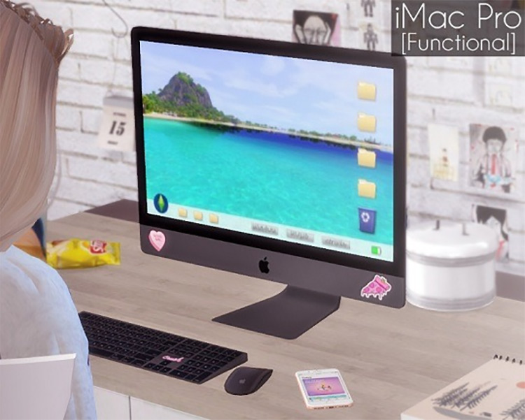 Functional iMac Pro Sims 4 CC