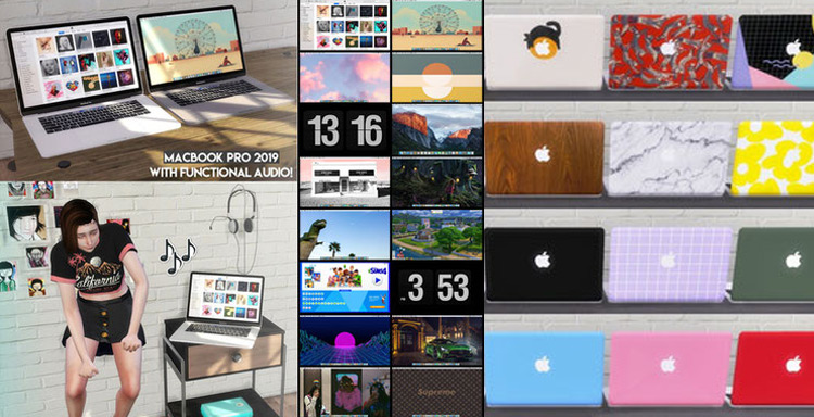 MacBook Pro 2019 Sims 4 CC
