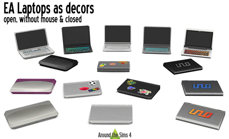 EA Laptops as Decors for Sims 4