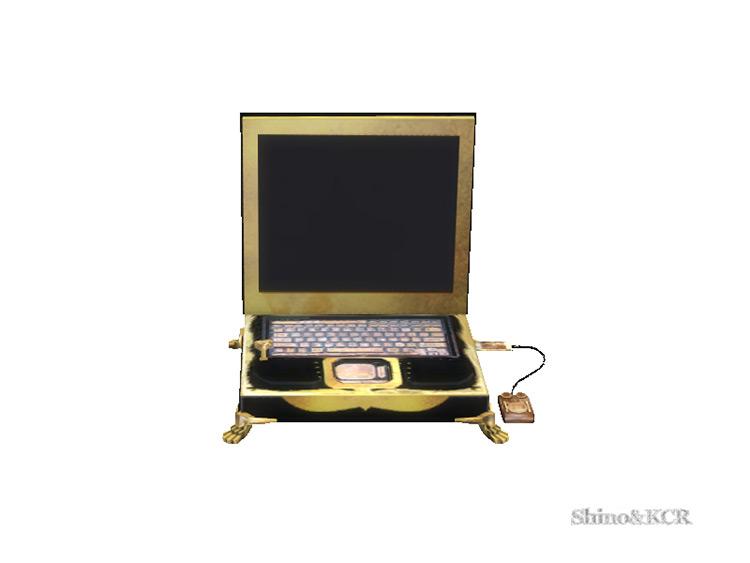 Study Steampunk Laptop Sims 4 CC