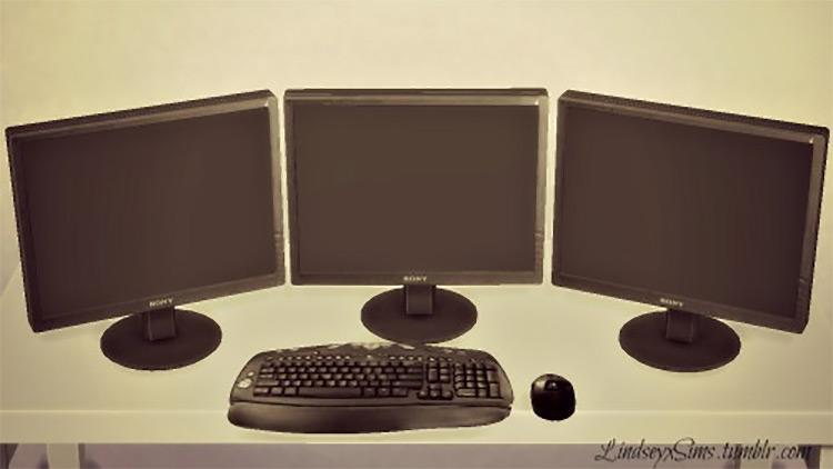 Triple Monitor Desktop Computer TS4 CC