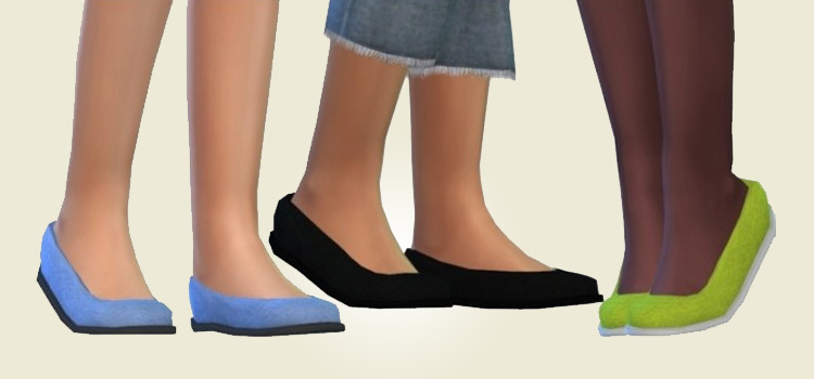 Canvas flats girls shoes CC for The Sims 4