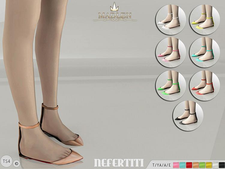 Madlen Nefertiti Flats Sims 4 CC
