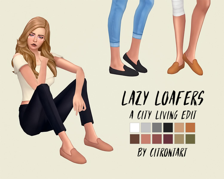 Lazy Loafers for Sims 4