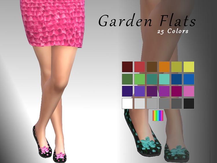 Dark Garden Flats Sims 4 CC