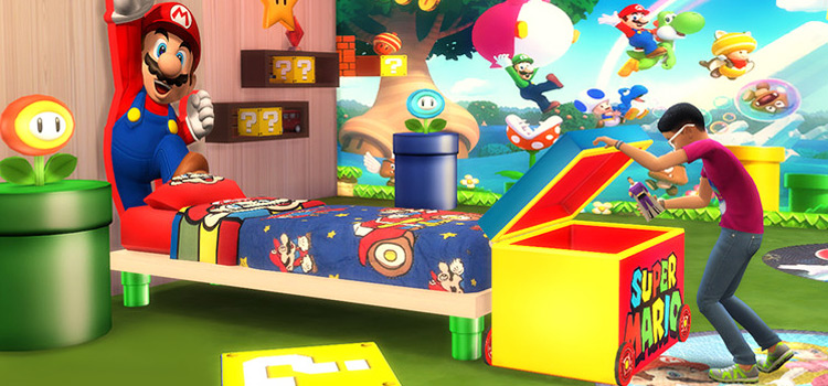 Super Mario TS4 CC Mods - Bedroom Screenshot