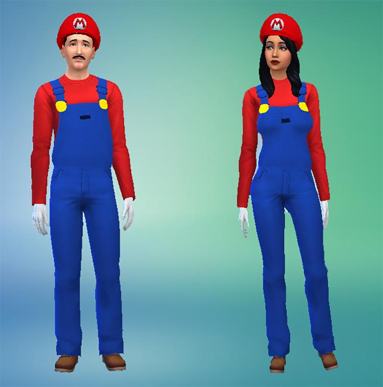 Mario & Luigi Outfits + Hats TS4 CC