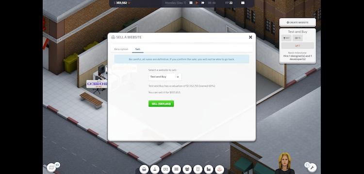 Sell Website Startup Company Mod screenshot