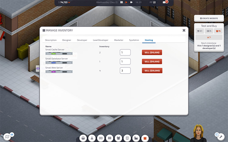 Manage Inventory Startup Company Mod