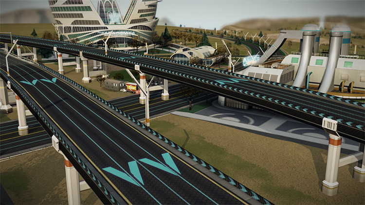 UniDirectional Networks SimCity 2013 Mod