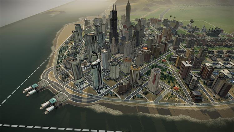 Coastline and Waterways Tools SimCity 2013 Mod