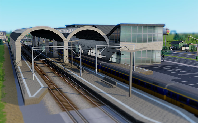 Central Train Station Mod for SimCity 2013
