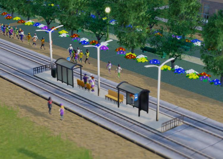 Public Transport Stops SimCity 2013 Mod