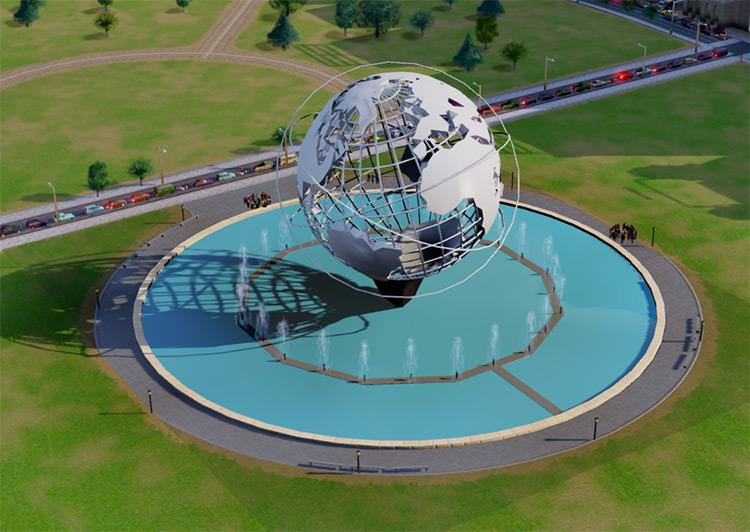 The Unisphere SimCity 2013 Mod