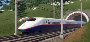 Shinkansen Train Modded in Transport Fever2