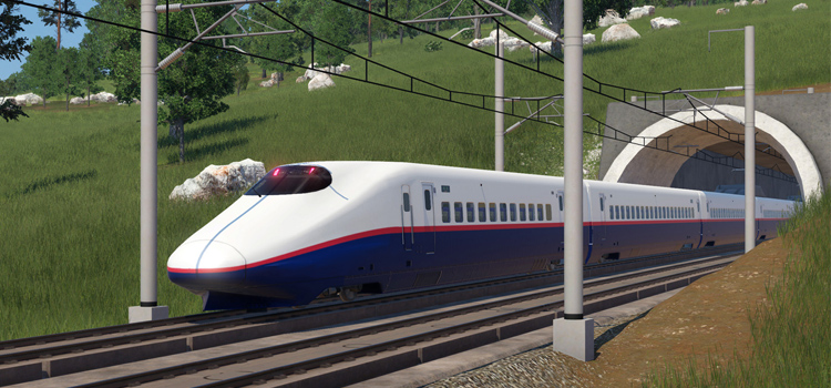 Shinkansen Train Modded in Transport Fever2
