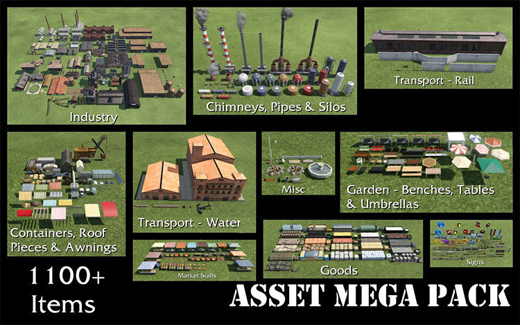 Asset Mega Pack for Transport Fever 2