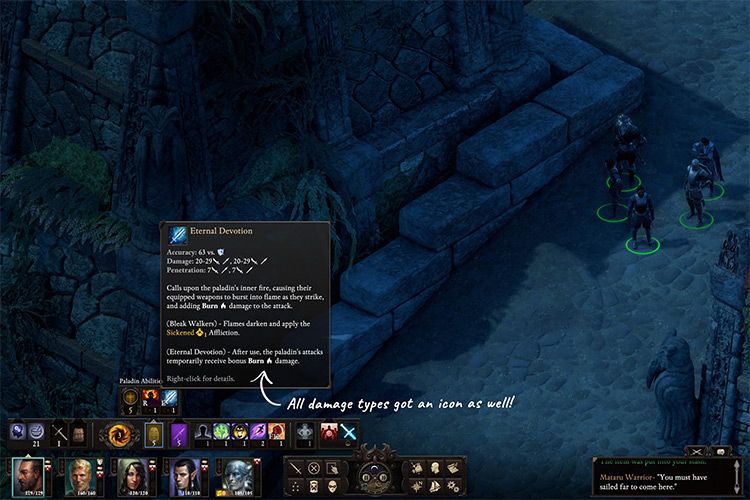 Enhanced User Interface Pillars of Eternity II Mod