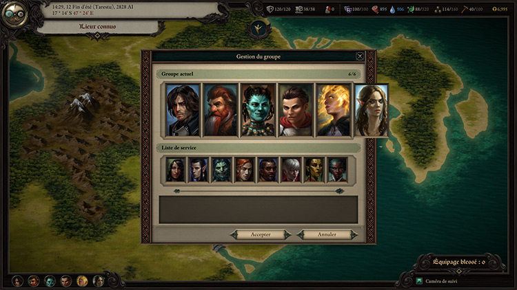 Six Characters In Party Pillars of Eternity II Mod