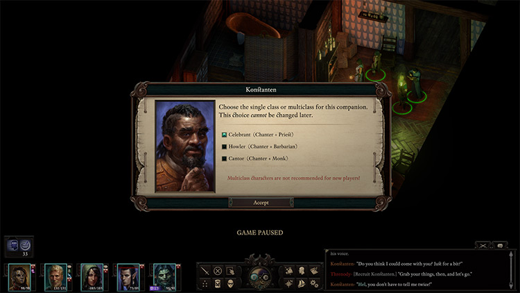 Alternate Class Features Pillars of Eternity II Mod