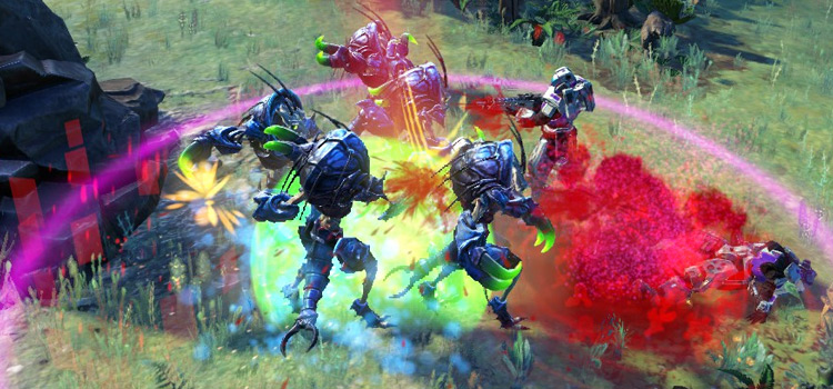 Age of Wonders Planetfall modded - colorful battle screenshot
