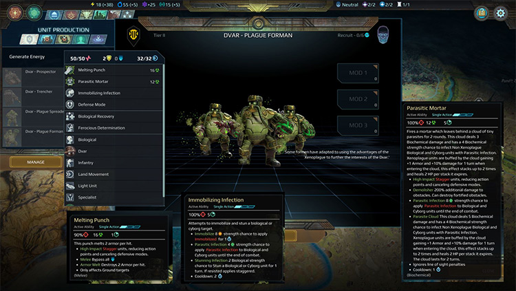 Xenoplague Racial Expansion Age of Wonders: Planetfall Mod