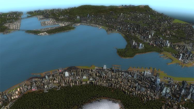 Hong Kong Cities in Motion 2 Mod Map