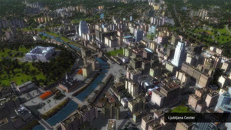 Ljubljana Cities in Motion 2 Mod Map