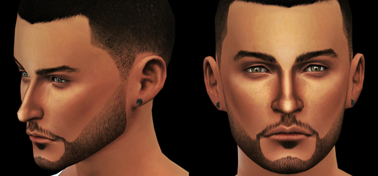 Edged beard custom CC for TS4