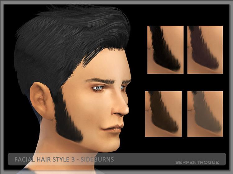Facial Hair Style 3 – Sideburns TS4 CC