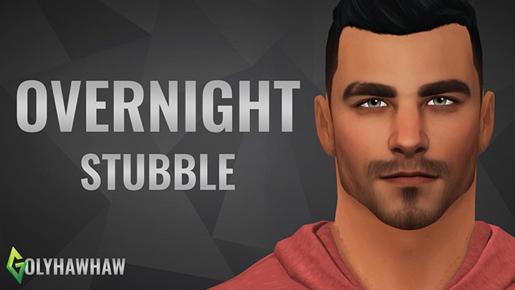 Overnight Stubble Sims 4 CC