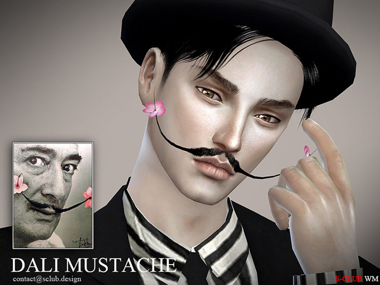 Dali Mustache Sims 4 CC screenshot
