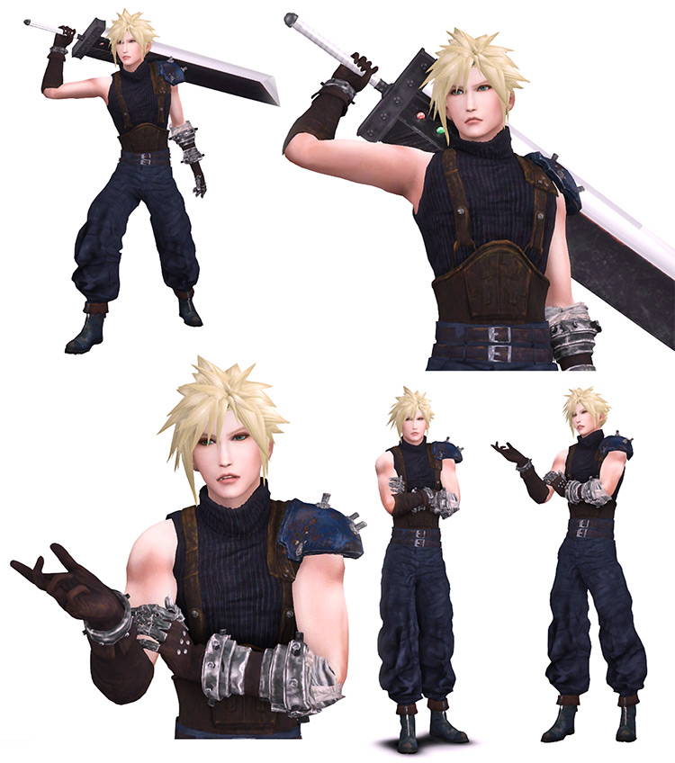 FFVII Remake Cloud Strife Outfit Sims 4 CC