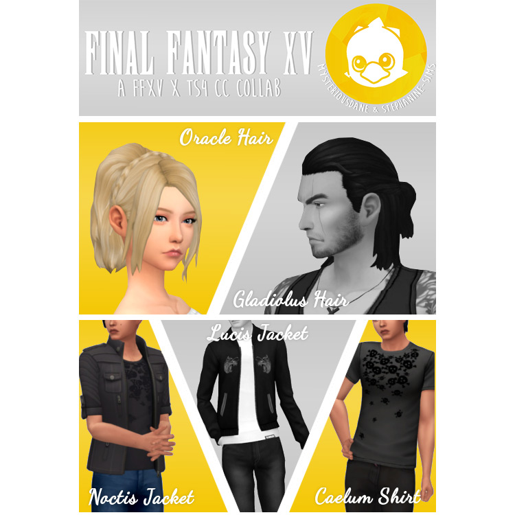 FFXV Assorted CC Pack for Sims 4