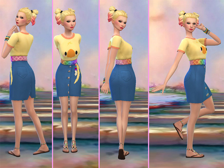 Chocodress Sims 4 CC screenshot
