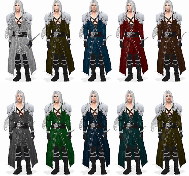 FFVII Remake Sephiroth Outfit for Sims 4