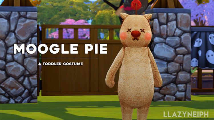 Moogle Pie Toddler Costume Sims 4 CC