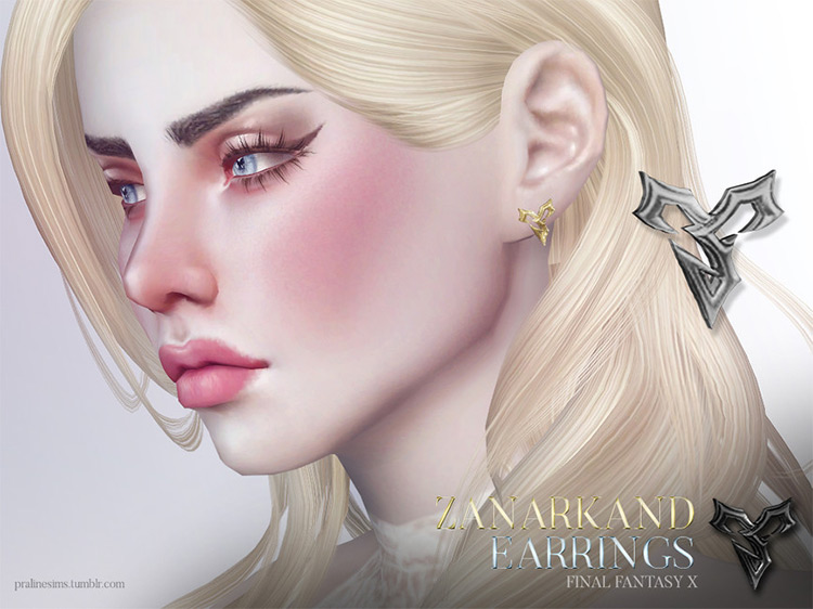 FFX Zanarkand Earrings Sims 4 CC