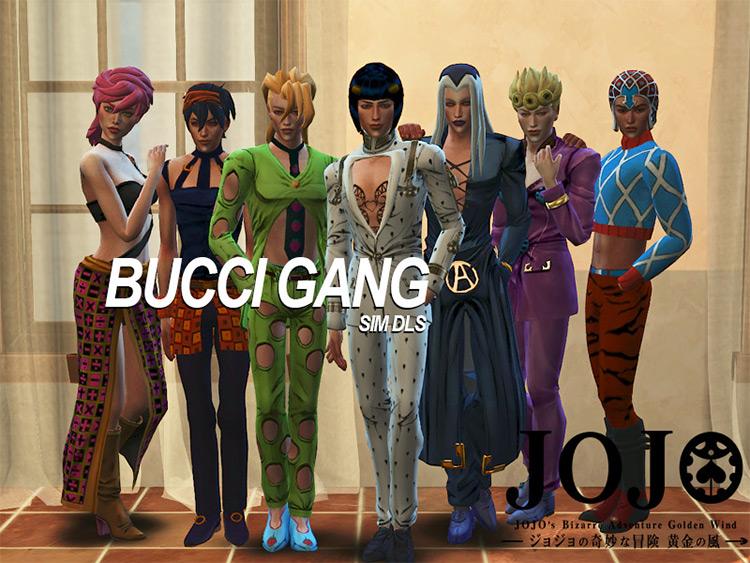 Bucciarati's Gang CC Sets for Sims 4